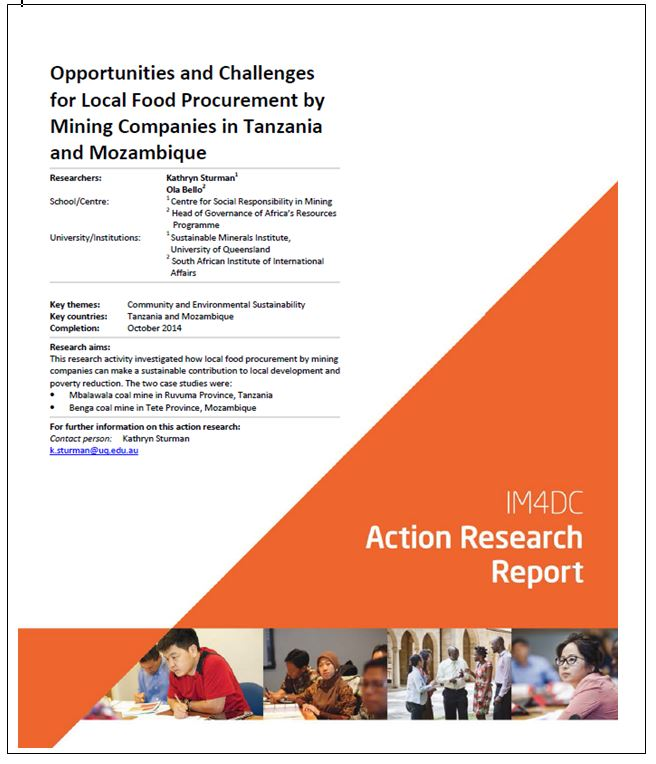 Opportunities and challenges for local food procurement by