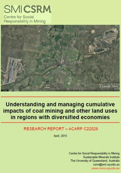 Understanding and managing cumulative impacts of coal mining and other land uses in regions with diversified economies