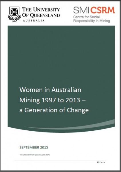 Women in Australian Mining 1997 to 2013 - A Generation of Change