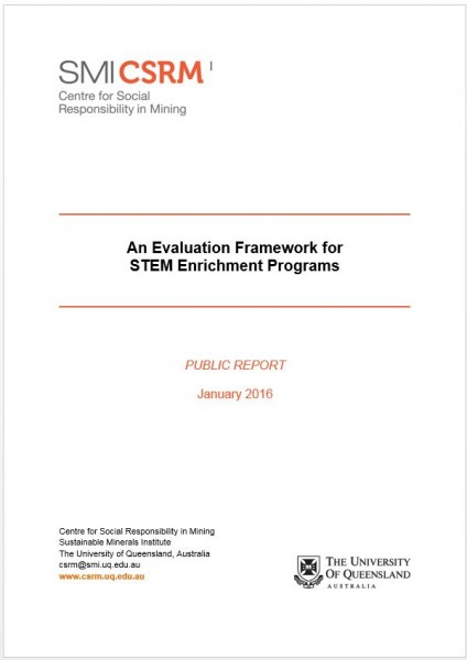 An Evaluation Framework for STEM Enrichment Programs