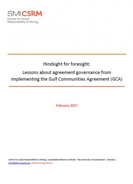 Hindsight for foresight: Lessons about agreement governance from implementing the Gulf Communities Agreement (GCA)