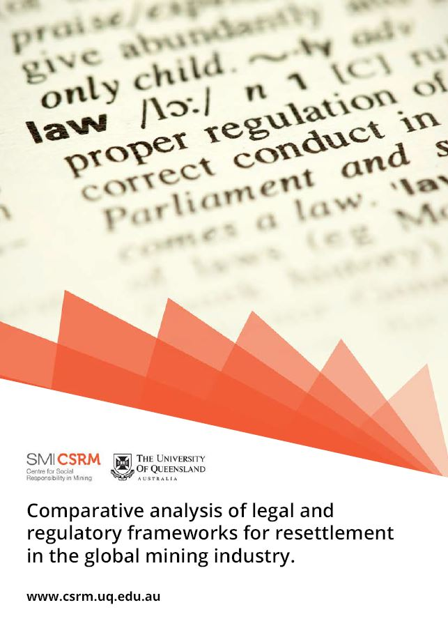 Comparative analysis of legal and regulatory frameworks for resettlement in the global mining industry