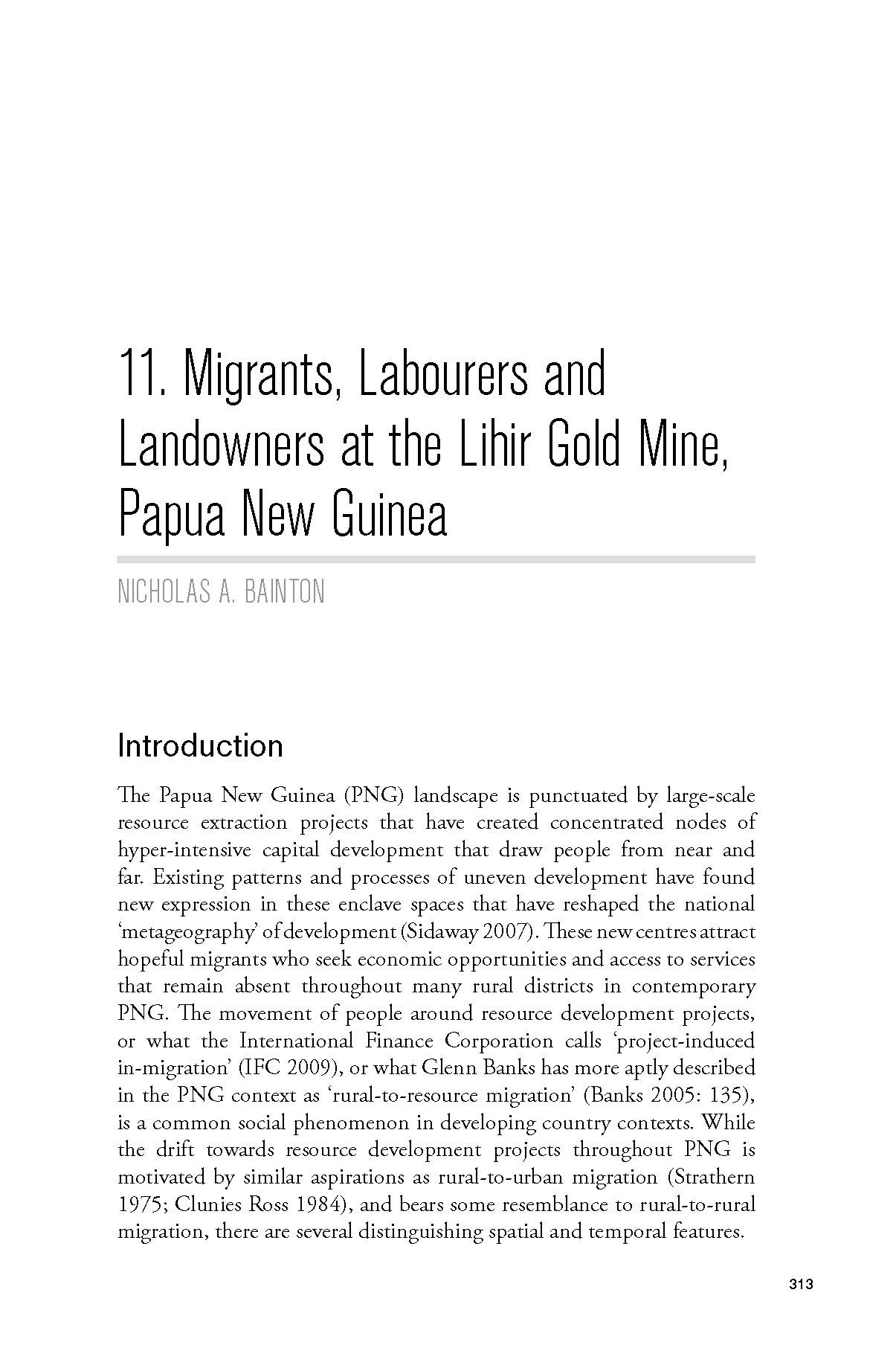 Migrants, labourers and landowners at the Lihir gold mine, Papua New Guinea