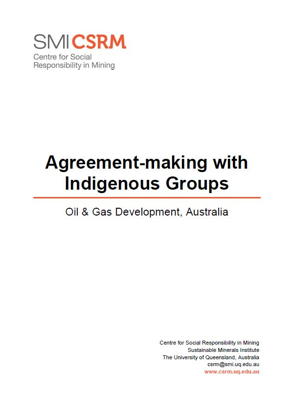 Agreement-making with indigenous groups