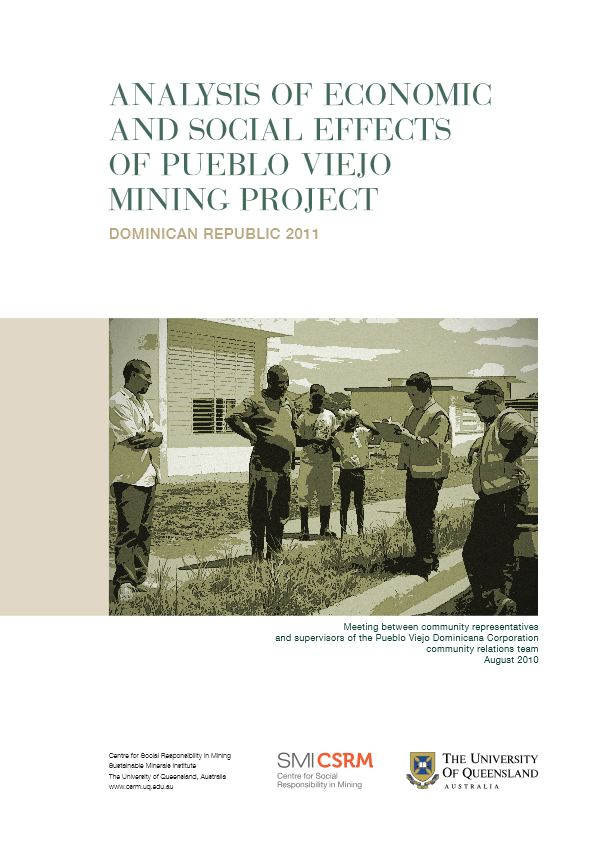 Analysis of economic and social effects of Pueblo Viejo mining project