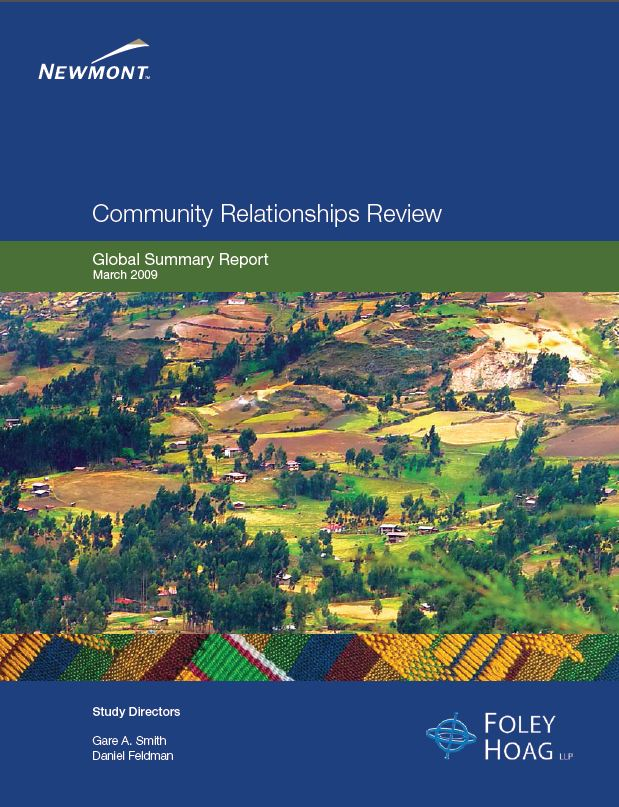 Community relations review: global summary report 2009