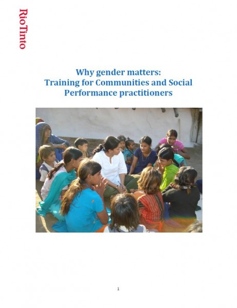 Why Gender Matters: Training for Communities and Social Performance Practitioners