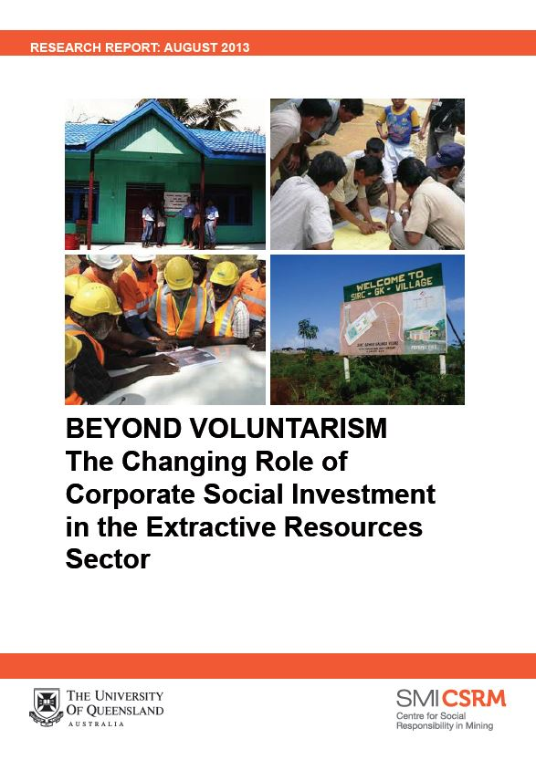 Beyond voluntarism: the changing role of corporate social investment in the extractive resources sector