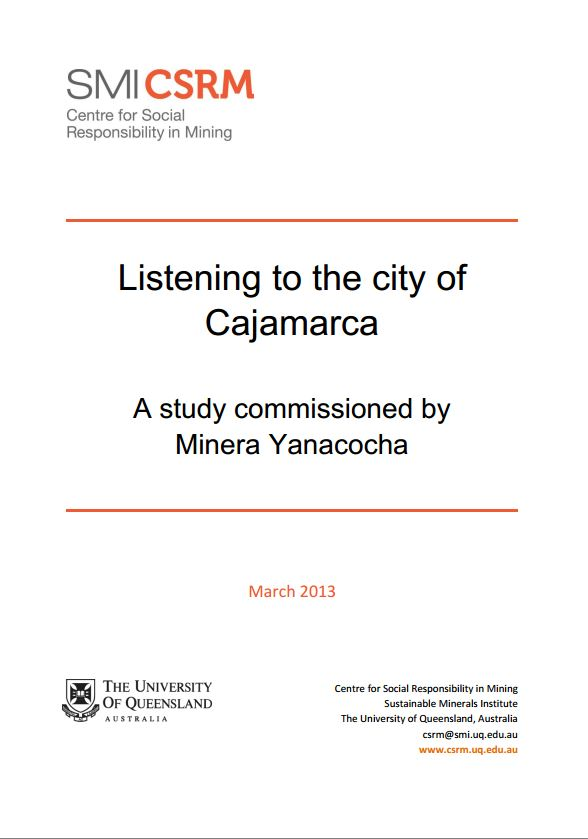 Listening to the city of  Cajamarca: Final Report
