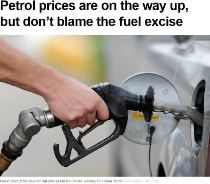 Petrol prices are in the way up, but don't blame the fuel excise