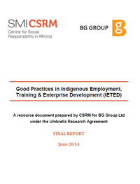 The guide to good practices in indigenous employment, training and enterprise development