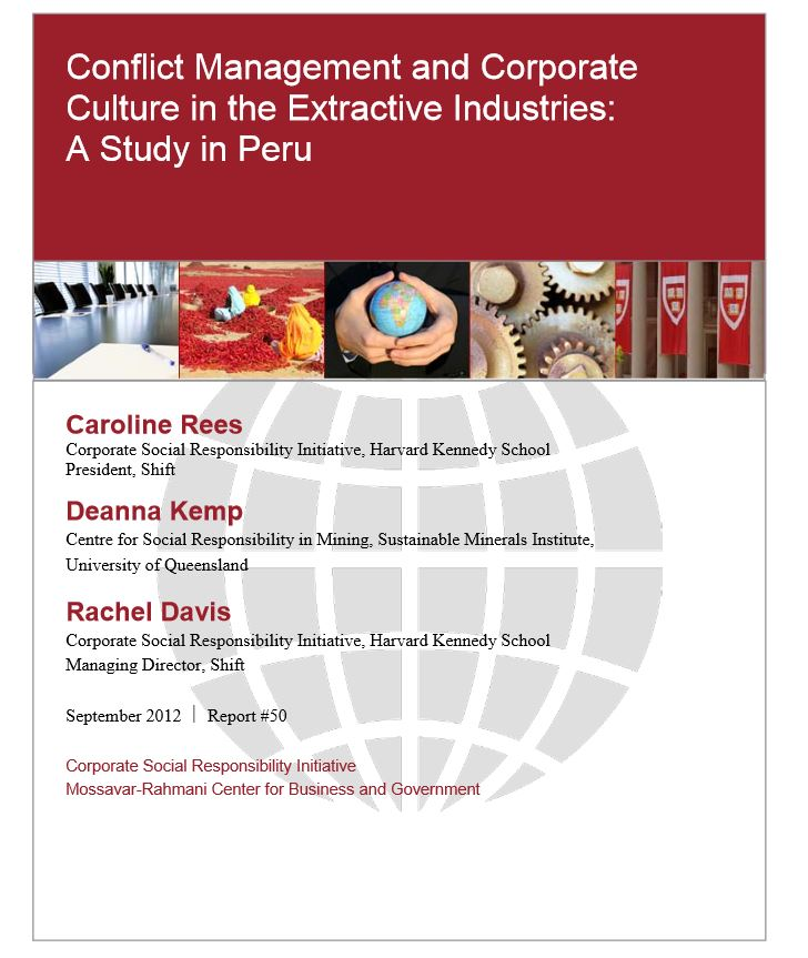 Conflict management and corporate culture in the extractive industries: A Study in Peru