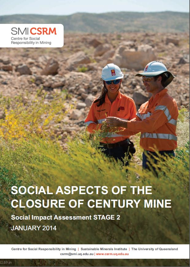 Social aspects of the closure of Century Mine: social impact assessment STAGE 2