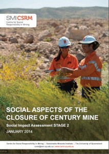 Closure of Century Mine Cover