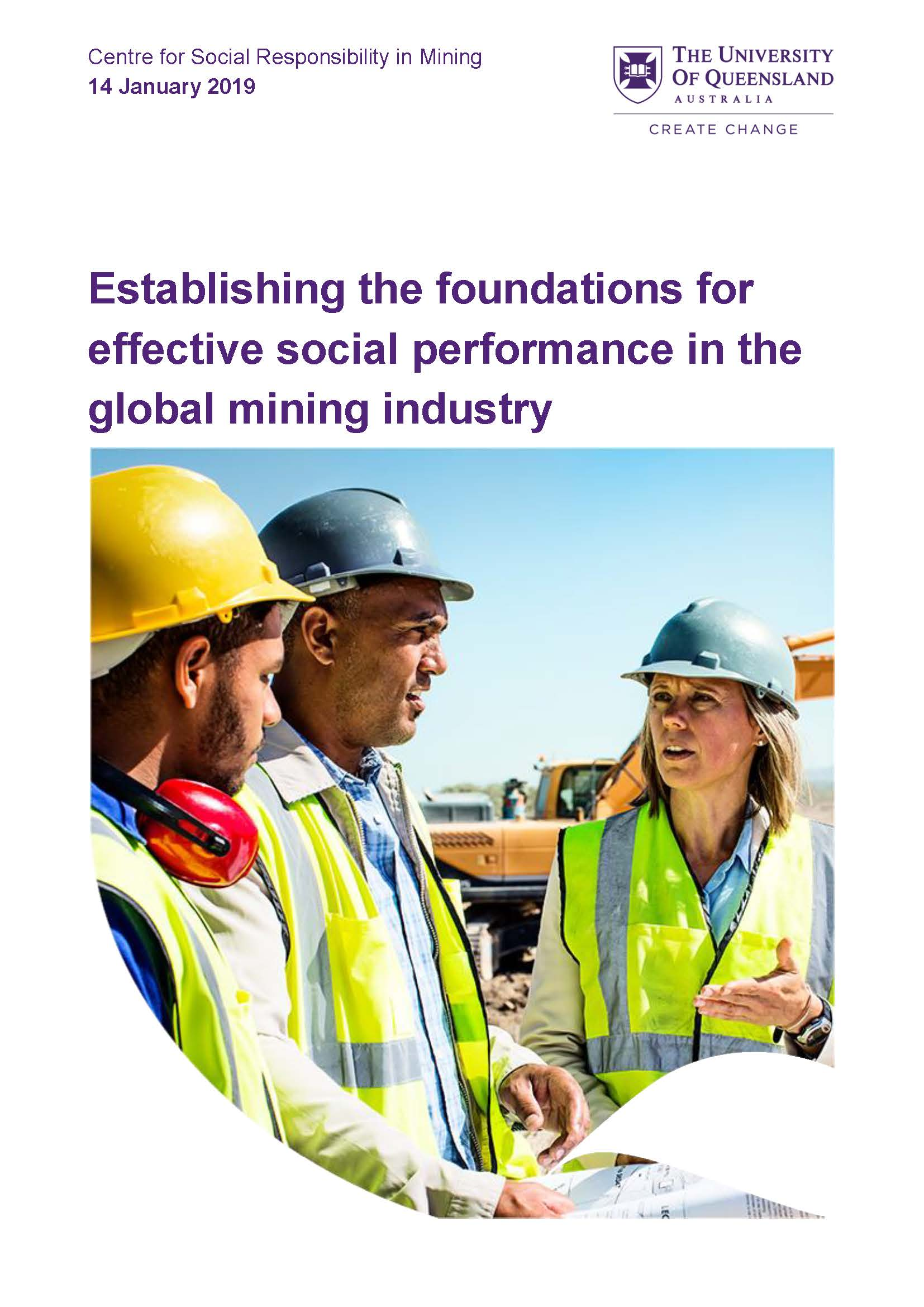 Establishing the foundations for effective social performance in the global mining industry